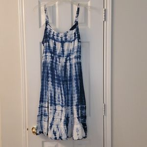 Torrid blue and white tie-dyed Sundress
